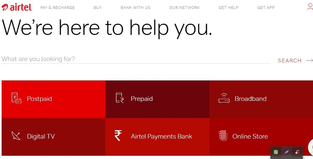 Airtel Customer Care All States Toll-Free number (24×7)