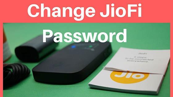 Change JioFi Password