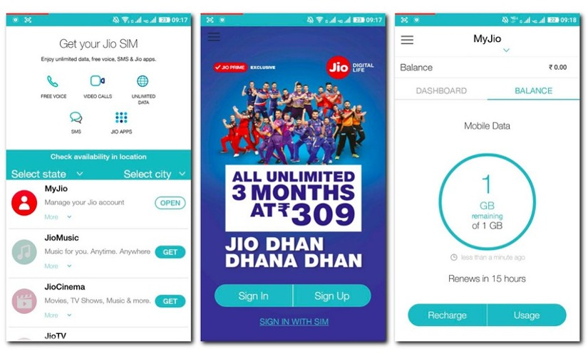 how to jio balance check