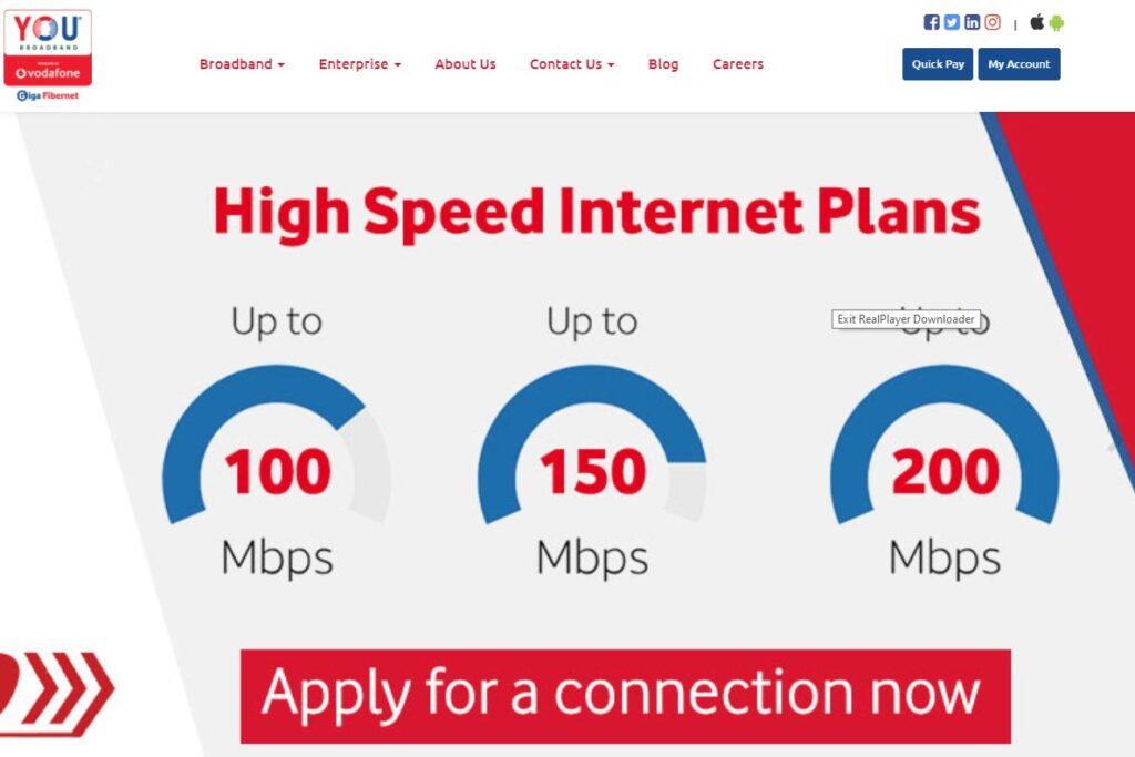 You Broadband tariff plans